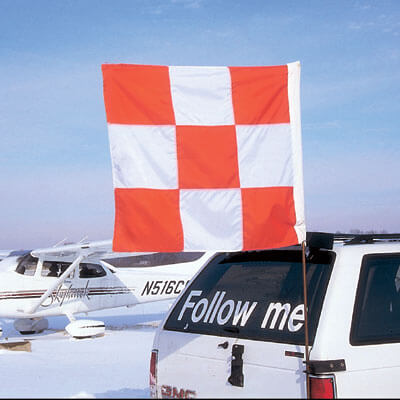 Airport vehicle flag 2